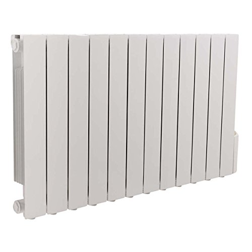 WarmeHaus Oil Filled Electric Radiator Thermostatic Wall Mounted Heater - 577x1017mm - 2000W - Slimline...