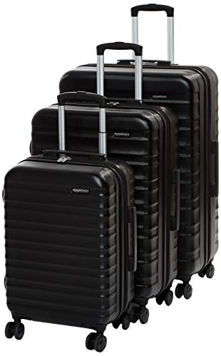 This black hardside luggage ticks are the right boxes, tough, expandable and has the looks to go with it.