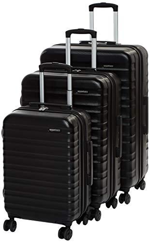 Amazon Basics 3-Piece Set, Black, 3-Piece Set
