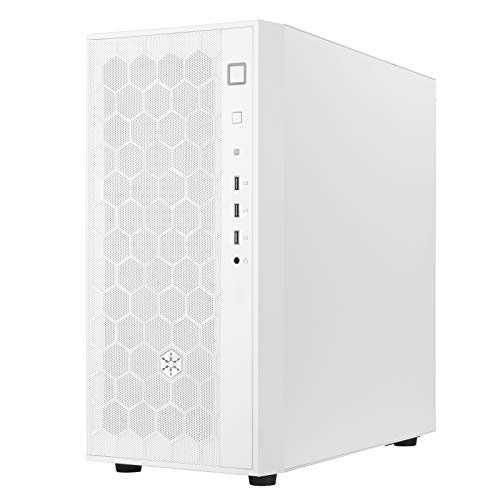 SilverStone Technology FARA R1 White Solid Side Panel Mid-Tower ATX Case with Micro-ATX and Mini-ITX Support - FAR1W
