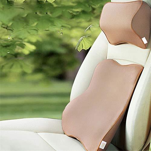 Lordosenstützkissen Autositz-Kopfstützenkissen und Auto-Lordosenstützenkissen Reise-Auto-Kopf-Nacken-Sitz-Rückenkissen mit ergonomischem Design für die Einstellung der Sitzposition Entlastungsschmerze