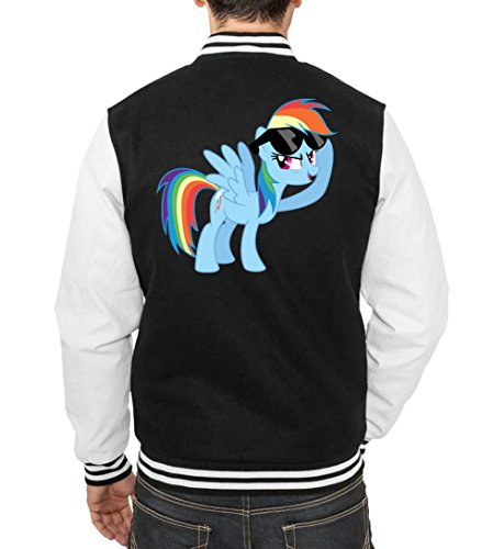 Rainbow Pony College Jacket Noir Certified Freak-L