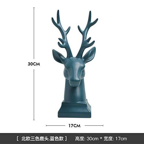 XJRG Hoofddecoraties, moderne eenvoud abstracte hertenvorm keramiek sculptuur Tv-kast wijnkast creatieve decoraties geschenken groen