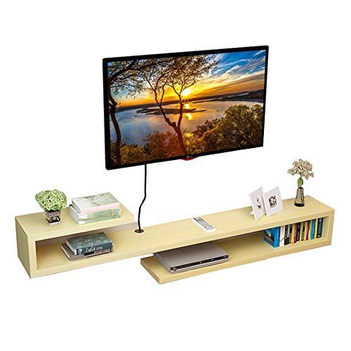 YAzNdom Home TV Kast Wandmontage TV Wandplank TV Kast Frame Drijvende Opslag Plank Open-plank Muur Achtergrond Geschikt voor Woonkamer