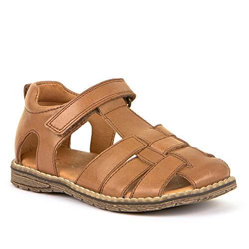 Froddo Schuhe Sandalen Kindersandalen aus Leder mit Klettverschluss Braun (Braun, 30)