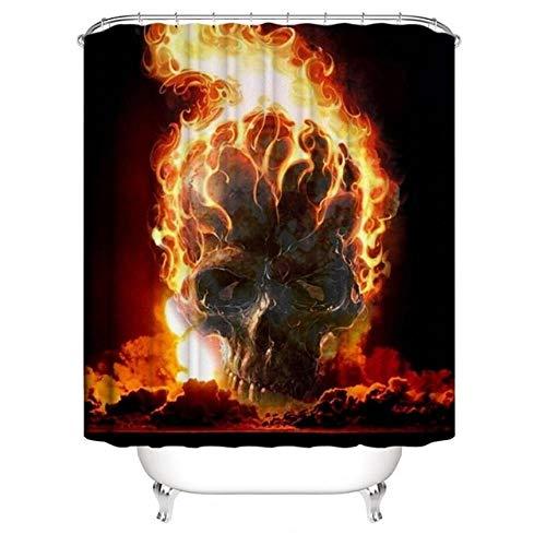 N / A Drucken Halloween Duschvorhang Trennung Bad Vorhang Trennwand Bad Vorhang-B200xH220cm