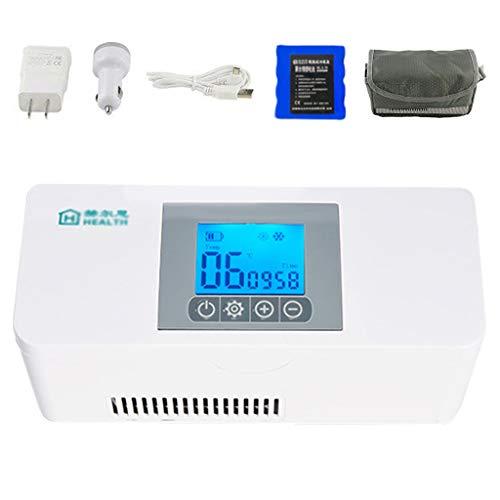Draagbare Medische Koelkast en Insulinekoeler Mini-medicijnkoelkast Slimme Temperatuurregeling 2-8 ° C, Auto-reiskoelkast, Wit