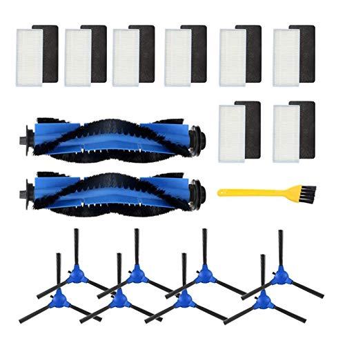 ZRNG Ajuste for Kit de Accesorios Compatible con Eufy Robovac 11S, Robovac 30, Robovac 30C, 15C Robovac, Accesorio de vacío robótica 8X Limpiador Fi La instalación es Simple y fácil de Usar.