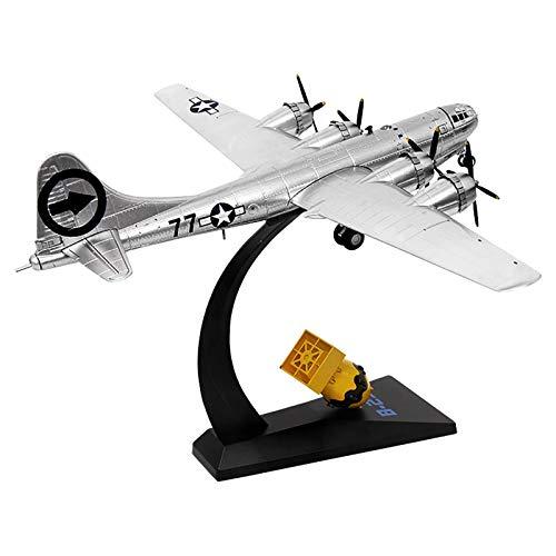 Modelo de avión, avión militar a escala 1/144, bombardero estratégico B-29 de la Segunda Guerra Mundial, modelo de avión de metal fundido a presión, para conmemorar la decoración del modelo Collecir