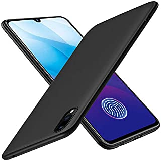 Prime Retail Plain Flexible Pudding Back Cover for Vivo Y91i - Matte Black Case
