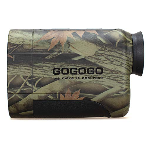 Gogogo 6X Hunting Laser Rangefinder Range Finder Distance Measuring Outdoor Wild 650Y with Slop High-Precision Continuous Scan
