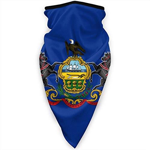 Tzshak Pennsylvania State Flag Unisex Máscara de Calavera a Prueba de Viento Bandana Bandana pasamontañas Multifuncional Cuello Polaza Protección UV