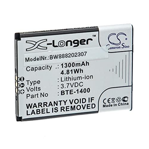 vhbw Batería Recargable Compatible con Orbic Journey, Journey V, ORB2200LBVZ, ORB2200LBVZPP, RC2200L móvil, Smartphone (1300 mAh, 3,7 V, Li-Ion)