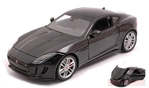 NEW Welly WE24060BK Jaguar F-Type 2015 Black 1:24 MODELLINO Die Cast Model Compatibile con