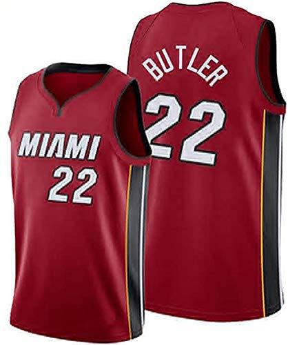 GFGD Retro Wärme Butler 22 Basketball Jersey Fan Kleidung, Breathable Ineinander greifen-Weste für Männer und Frauen, Wettbewerb Spiel Sweatshirt red-S