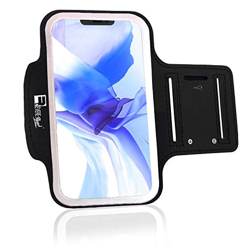 RevereSport Compatible iPhone 12 Mini Running Armband. Phone Arm Holder for Sports, Gym Workouts and Exercise