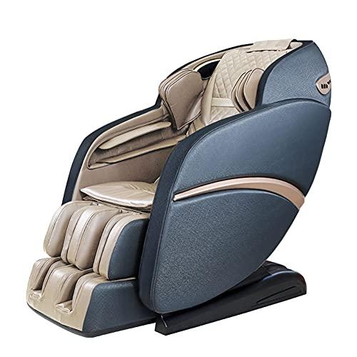 Suful-S6 Sofá de masaje, silla de masaje 3D acupuntura, relajación de masaje, relajación real, silla de masaje, multifunción de cuerpo completo, masaje inteligente, sofá amasado(Gray Brown)