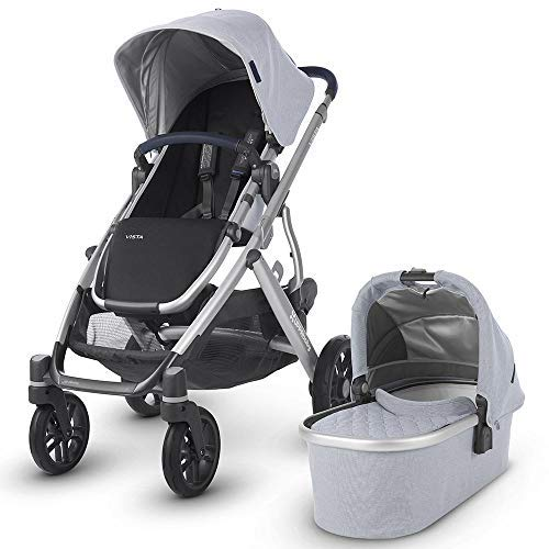 UPPAbaby Vista Stroller - William (Chambray Oxford/Silver/Navy Leather)