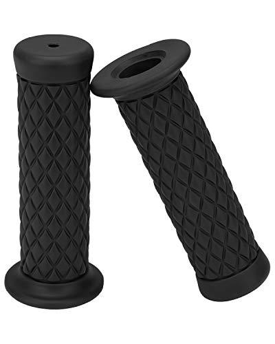 Techjayse 7/8' Universal Motorcycle Hand Bar Grips Pillow Grip Anti-Slip Rubber Racing Grip for Dirt...