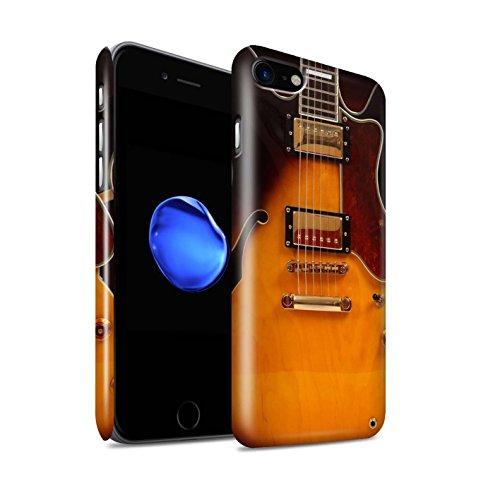 Glanzend telefoonhoesje voor Apple iPhone SE 2020 gitaar semi-akoestisch ontwerp glanzend ultradun dun hard snap-cover