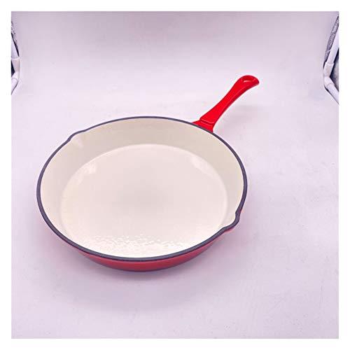 JSJJWSX Sartén Pan para freír Pan de Esmalte de Mango Largo y de Fondo Plano de freying sartén Mini sartén (Color : 10 in)
