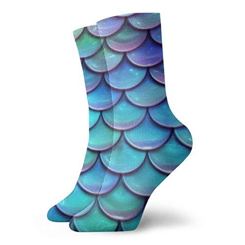 BJAMAJ - Calcetines Unisex de algodón y poliéster, diseño de balanza de cerámica Azul