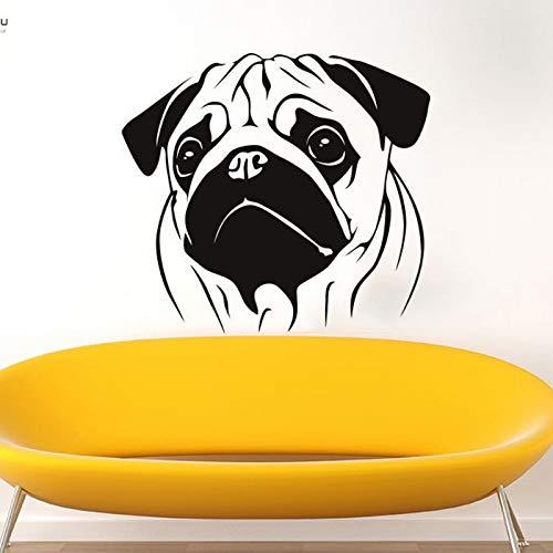 hetingyue vinylwandapplicatie kunststicker-ruimtedecoratie winkel voor huisdieren hondenkamer mophondedierplakaat wandafbeelding