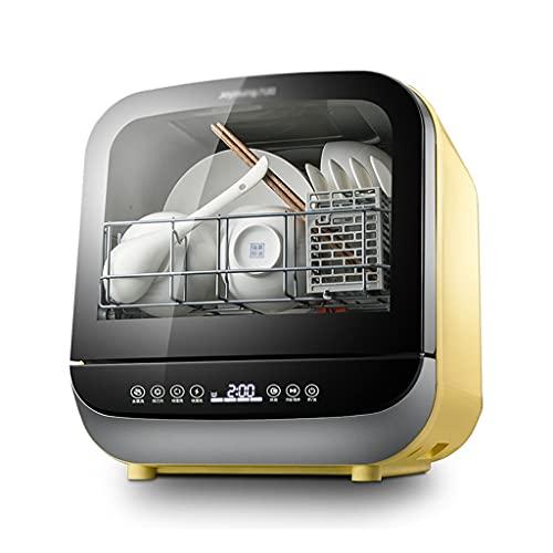 Zheng Hui Shop Lavavajillas Independiente Lavavajillas Compacto De Mesa Lavaplatos Automático Sin Instalación, 5 Programas, Control Táctil, Pantalla LED (Color : Yellow, Size : 41.2 * 37.8 * 42.2cm)