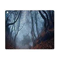 iPad Air 4 ケース 2020 iPad 10.9インチ 農家の装飾、渦巻く茂みのある薄暗い暗いクリミアの森神秘的な不気味な野生の森の写真、オレンジホワイトブラウン Pad 10.9インチ 2020年専用