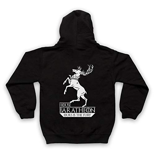 Inspired Apparel Inspirado por Game of Thrones House Baratheon No Oficial Niños Sudadera con Capucha con Cremallera