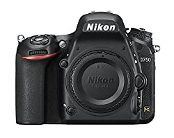 Nikon D750 camera on white background - - Clicking this image will take you to the Amazon sales page for the product