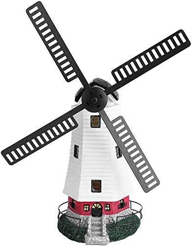 Windmolen op zonne-energie, draadloos, oplaadbaar voor buiten, tafellamp, tuindecoratie, led-zonne-windmolen, verlichting, tuinwindmolen, 32 x 18,5 cm
