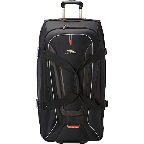 High Sierra AT7 Upright Wheeled Rolling Duffel Bag, Black