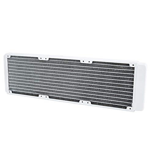 Oumij1 Radiador de Enfriamiento PC de Cobre Blanco Disipador de Calor Radiador de Enfriamiento de Agua 360 mm para Instrumentos Industriales