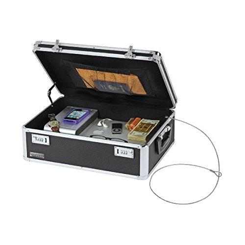 Vaultz Locking Storage Chest/Dorm Storage with Combination Locks, Black