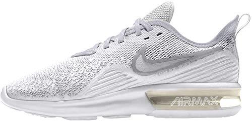 Nike Damen WMNS Air Max Sequent 4 Fitnessschuhe, Weiß (White/White/Wolf Grey 100), 37.5 EU