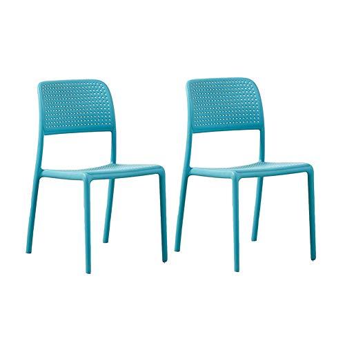 RENJUN - Silla de comedor para adultos (2 piezas, color azul)