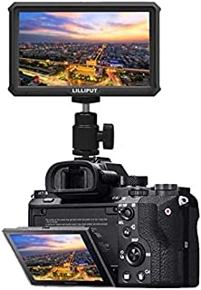 Lilliput A5 Lightweight 5 inch 1920x1080 HD 441ppi IPS Screen Camera Field Monitor 4K HDMI Input output with Battery and c...