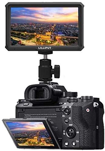 LILLIPUT - Monitor de 5 pulgadas (A5, 4K, 1920 x 1080, HD, 441ppi, IPS, DSLR, salida HDMI, compatible con A7 A7R, A7S, III, A6500, GH5, GH5s, 5D, 70D, D810, Ronin S), estándar