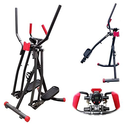 FFITNESS, Ellittica Air Walker Slim Strider Pro (máx. 100 kg) Unisex Adulto, Negro, Única