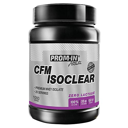 Whey Isolate CFM ISOCLEAR by PROM-IN Made by Using The Most Advanced cfm Technology That retains All bioactive Fractions in The Same Proportion as The Original raw Material. (Vanilla, 30 g)