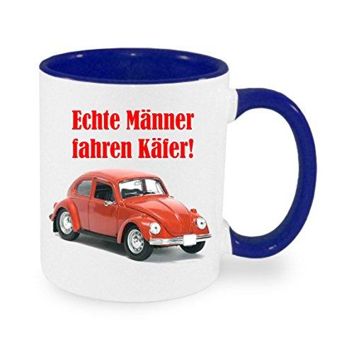 Creativ Deluxe Echte Männer Fahren Käfer Kaffeetasse mit Motiv, Bedruckte Tasse mit Sprüchen oder Bildern - auch individuelle Gestaltung nach Kundenwunsch