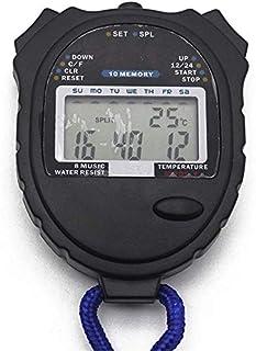 JINHAN ماء ساعة توقيت للماء متعدد الوظائف الإلكترونية الرياضة ساعة توقيت للماء عرض كبير مع وقت التاريخ الرياضة في الهواء ا...