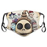 Nightmare Before Christmas Printed Face Shields Face Cover Comfy Breathable Balaclavas With Adjustable Ear Loops M