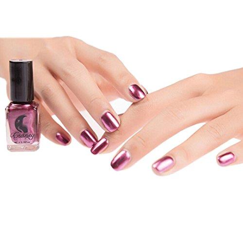 Coolster Nagellack Top Coat Nail Lightener Spiegel Metall Farbe Nail Lack Gel -Rosa