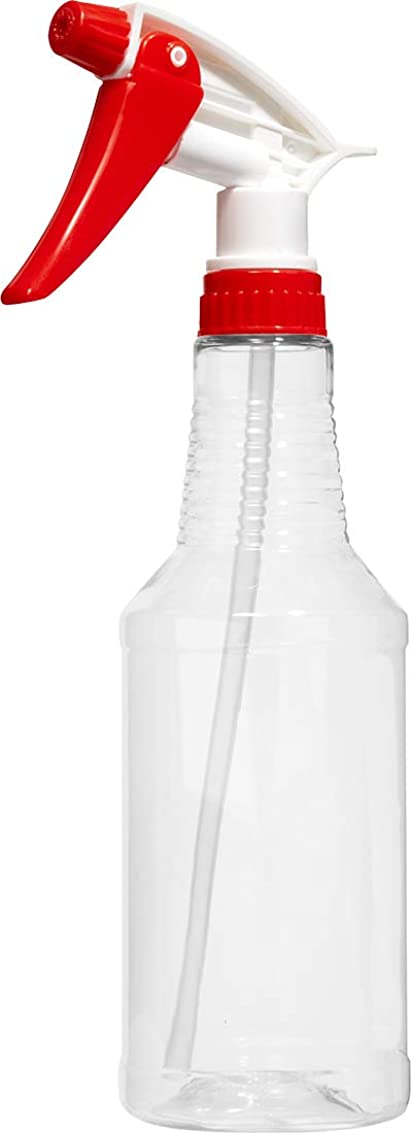 Empty Plastic Spray Bottles 16 oz, BPA-Free Food Grade, Crystal Clear PETE1, Red/White N8 Fully Adjustable Sprayer (Pack of 1) rnqsh2891244502