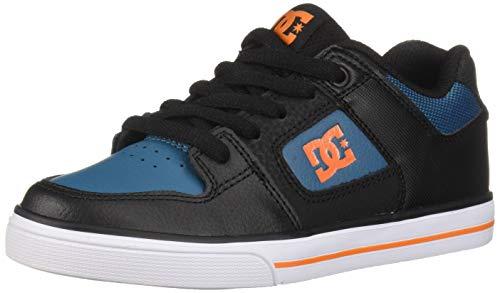 DC Kids' Pure Elastic Skate Shoe, Black, 3.5 M US Big Kid