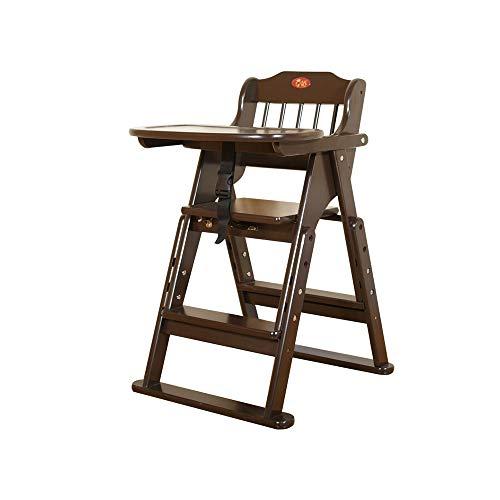YQQ Chaise De Bébé Chaise Pliante en Bois Massif Siège Portable Chaise d'enfant Table Et Chaise Multifonctions Sécurité