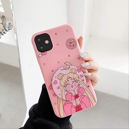 Cute Cartoon Sailor Moon Phone Case para iPhone X XR XS MAXiPhone 6 7 8 Plus 11 12 Pro MAX SE2Cover Fashion Soft Mirror Case para iPhone 7 1
