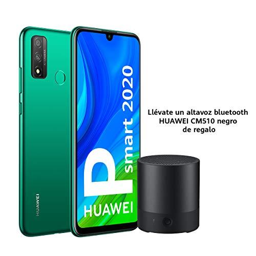 """HUAWEI P Smart 2020 - Smartphone con pantalla de 6.21"""" FHD+ (Kirin 710F, 4 GB + 128 GB,  Cámara Dual IA, reconocimiento facial, batería de 3400 mAh),  Verde + Altavoz CM510 negro"""